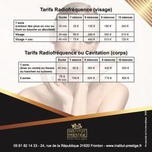 Radiofréquence Tarifs