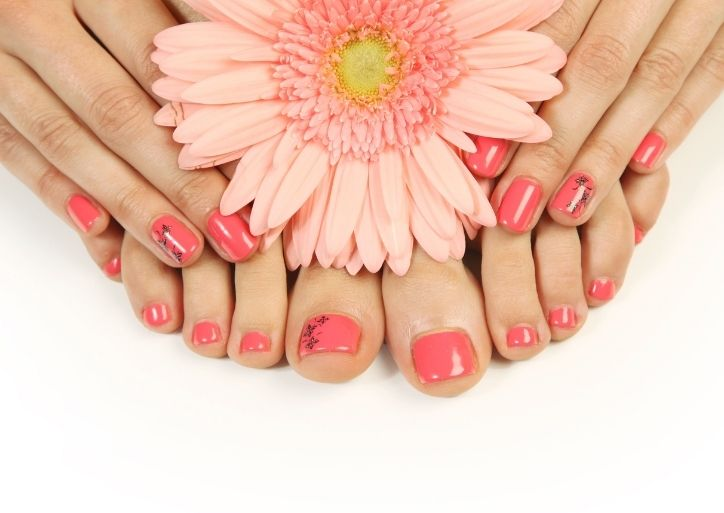 Pedicure, Ongles